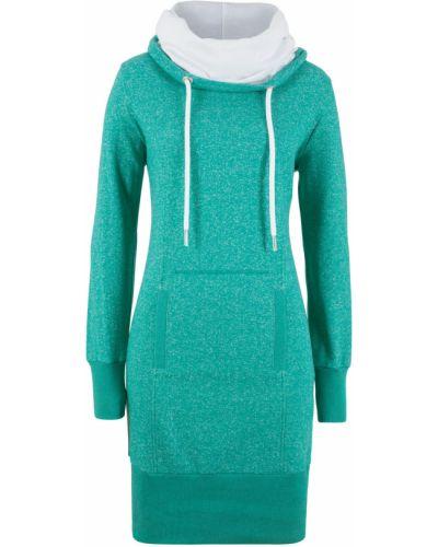 Платье трикотажное с карманами Bonprix