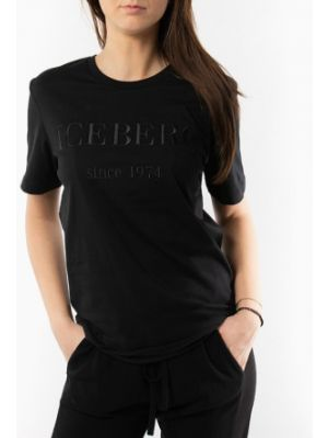 Футбольная черная футболка Iceberg