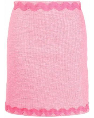 Różowa spódnica z wysokim stanem Pinko