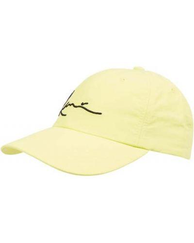 Żółta czapka z daszkiem z nylonu Karl Kani