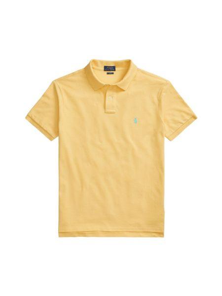 T-shirt bawełniana - żółta Polo Ralph Lauren