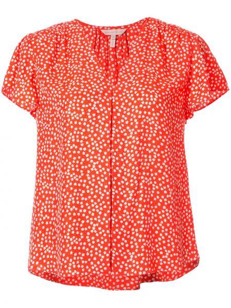 Шелковая блузка - оранжевая Rebecca Taylor
