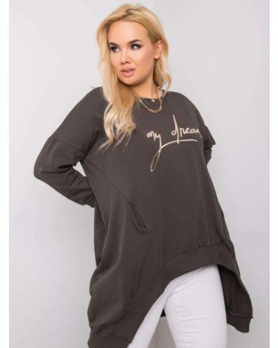 Tunika bawełniana - khaki Fashionhunters