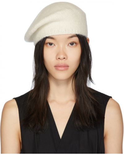 Biały beret Lauren Manoogian