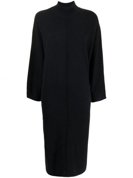 Трикотажное платье миди - черное N.peal