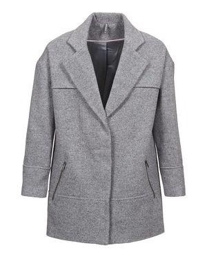 Szary płaszcz przeciwdeszczowy Naf Naf
