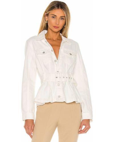 Ватная белая джинсовая куртка с поясом [blanknyc]