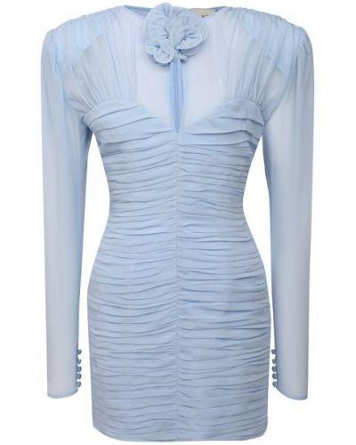 Шелковое платье - голубое Magda Butrym