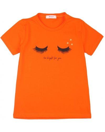 Pomarańczowa t-shirt Vicolo