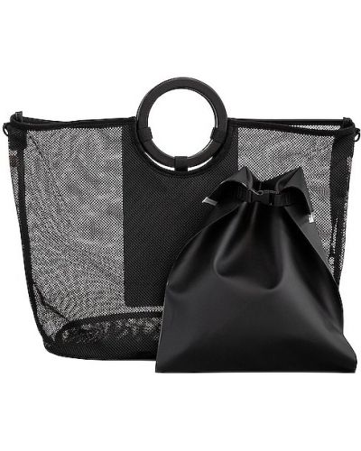 Czarna torebka na plażę Beis