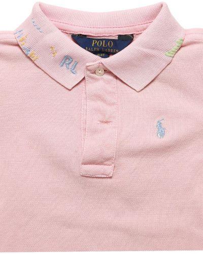Klasyczne różowe polo z haftem Ralph Lauren