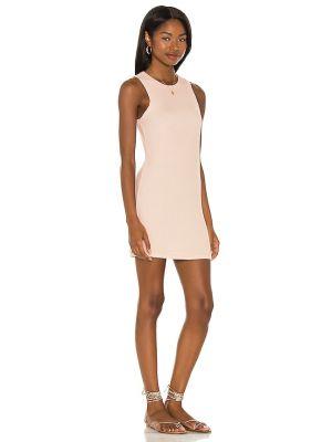 Sukienka prążkowana - różowa Michael Lauren