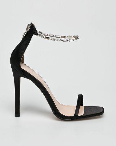 Туфли на каблуке на шпильке черные Public Desire