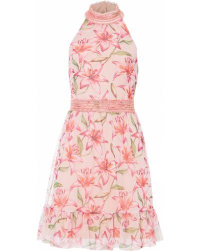 Розовое платье с американской проймой Bonprix