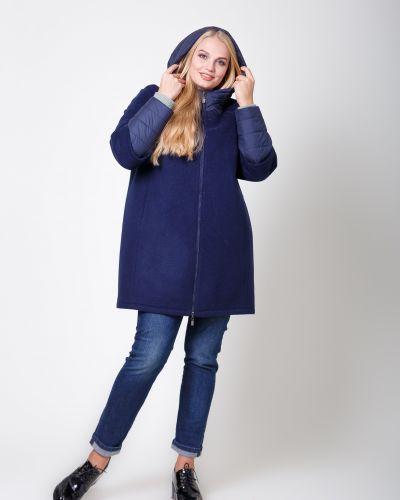 Синее пальто с капюшоном Sergio Cotti