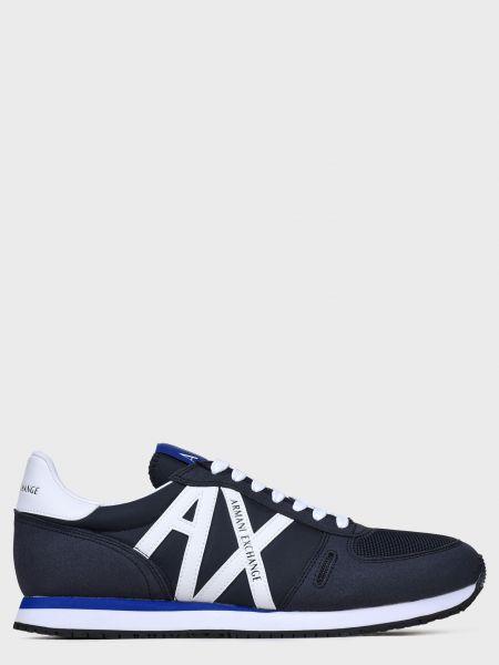 Кожаные кроссовки - синие Armani Exchange