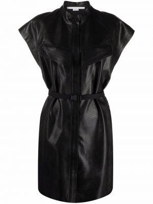 Кожаное платье - черное Stella Mccartney