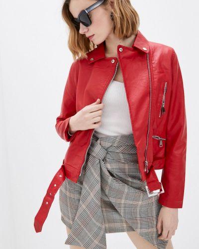Кожаная куртка - красная Macleria