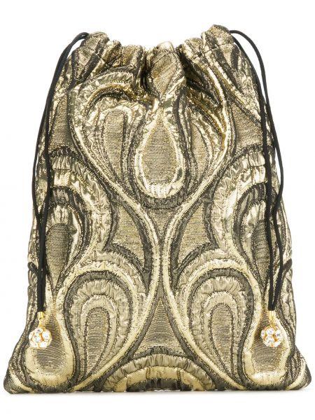 Brązowa torebka mini wełniana Ca&lou