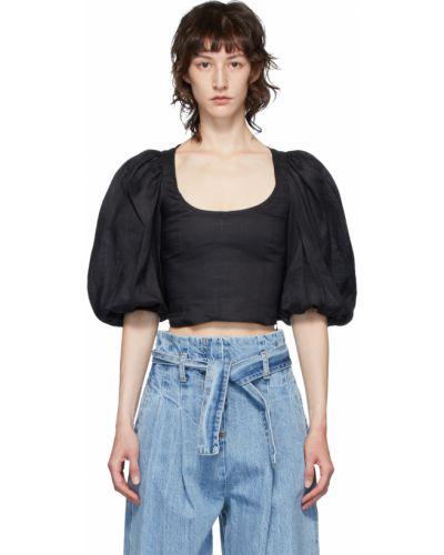 Czarna bluzka koszulowa Wandering
