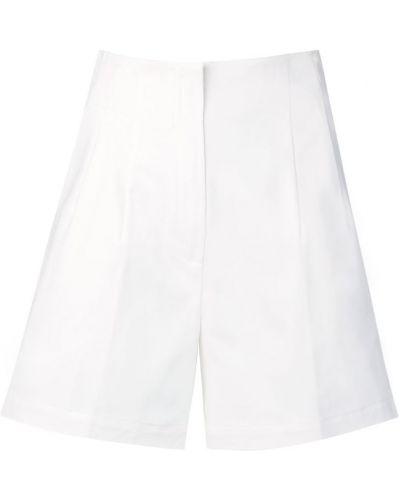 Белые шорты с карманами из габардина L'autre Chose