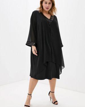 Черное вечернее платье Evans