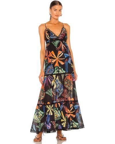 Czarna sukienka długa bawełniana Charo Ruiz Ibiza