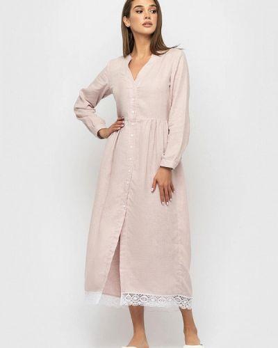 Розовое платье Morandi
