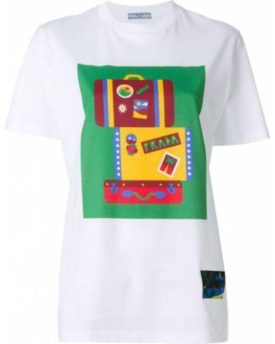 Футболка с логотипом хлопковая Prada