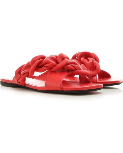 Czerwone sandały skorzane No. 21