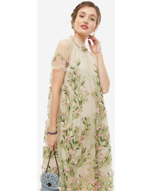 Платье с цветочным принтом ажурное Vera Moni