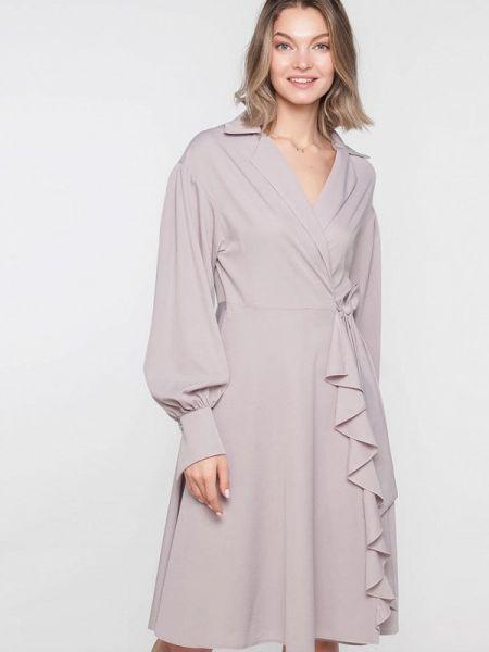 Платье серое с запахом Лимонти