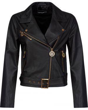 Кожаная куртка - черная Frankie Morello