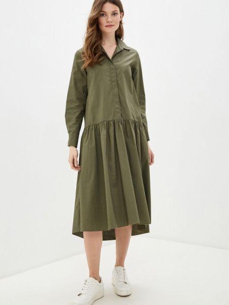 Платье платье-рубашка зеленый Massimiliano Bini
