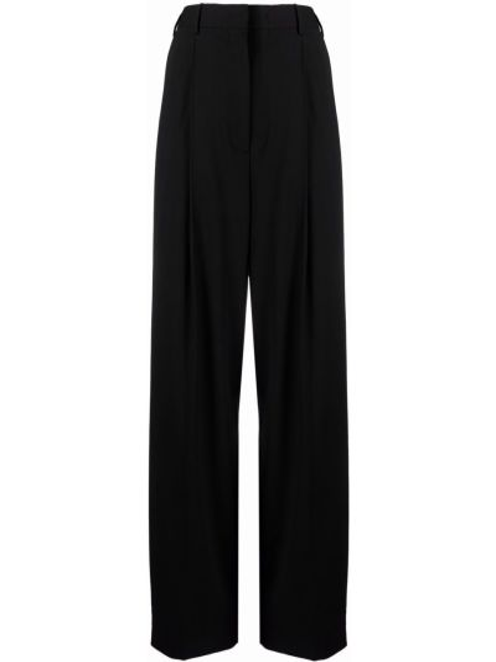 Черные с завышенной талией брюки с карманами Paul Smith