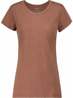 Ватная коричневая хлопковая классическая рубашка Velvet