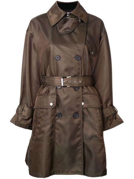 Черное кашемировое длинное пальто с воротником Barbara Bui