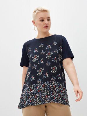 Синяя блузка с короткими рукавами Elena Miro