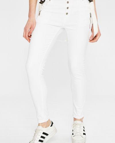 Белые зауженные брюки Answear