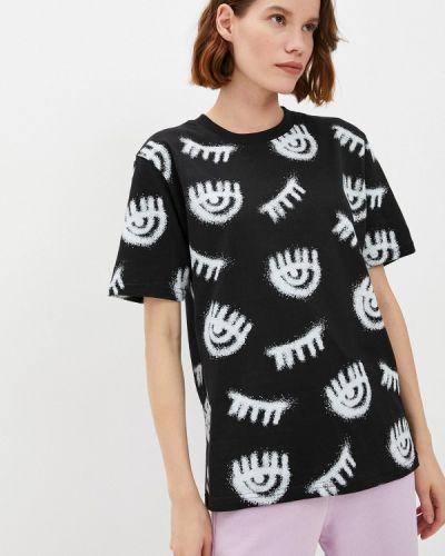 Черная итальянская футболка Chiara Ferragni Collection