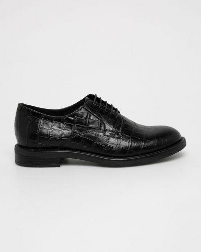 Туфли на каблуке кожаные на шнуровке Vagabond