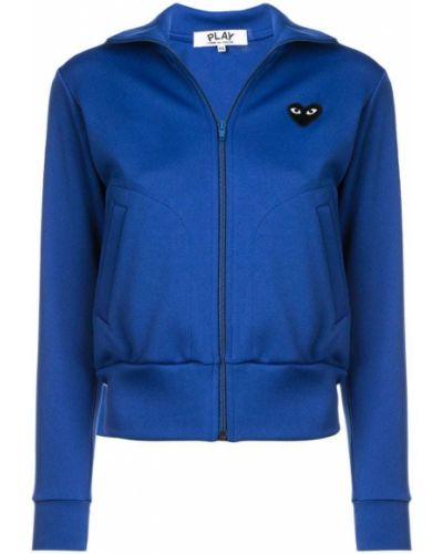 Синяя спортивная куртка Comme Des Garçons Play