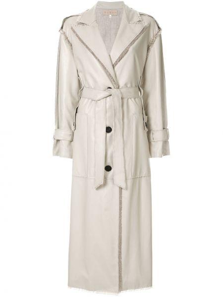 Классическое пальто классическое с бахромой на пуговицах с лацканами Ruban