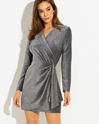 Серебряное платье с запахом Itelle