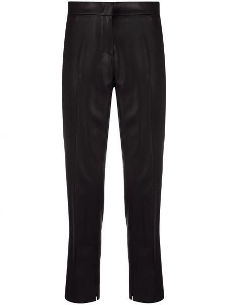 Przycięte spodnie czarne z kieszeniami Nells Nelson