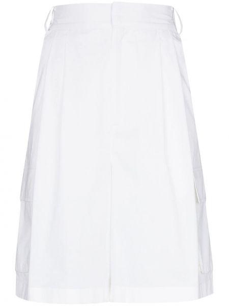 Белые с завышенной талией шорты с карманами Tibi