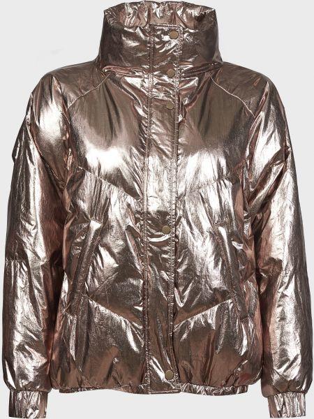 Куртка на молнии золотая с подкладкой Ba&sh