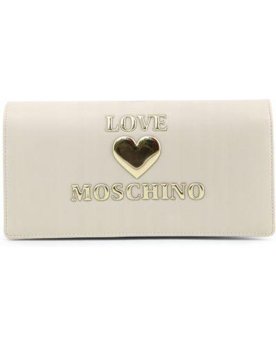 Kopertówka skórzana - biała Love Moschino