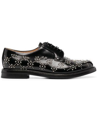Кожаные черные туфли на шнуровке на шнуровке Comme Des Garçons Noir Kei Ninomiya