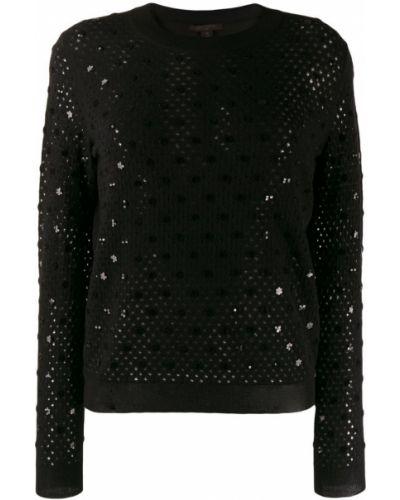 Черный вязаный джемпер с пайетками Louis Vuitton Pre-owned